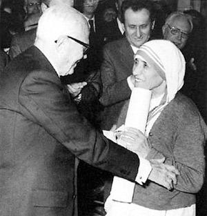 'Il Presidente della Repubblica Sandro Pertini con Madre Teresa di Calcutta', 1978-1985, Unknown
