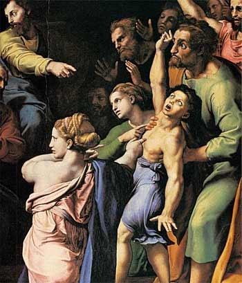 'The Transfiguration', between 1518(1518) and 1520, Raffaello Sanzio