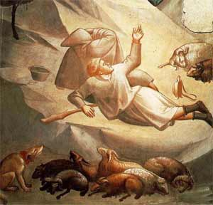 'the Annunciation to the Shepherds', 14th century, Taddeo Gaddi