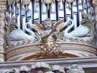 'Singender Engel an der alten Orgel', 2008, Wolfgang Sauber