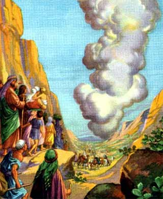 'He led them by a pillar of cloud', circa 1896-1913, the Providence Lithograph Company