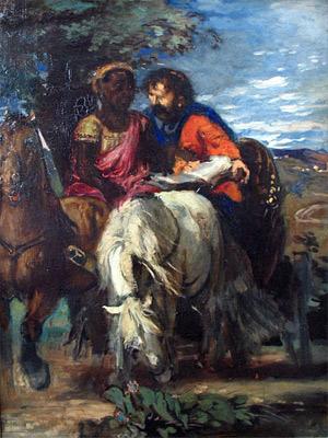 'Philippus und der Kämmerer ', 1869, Hans von Marées