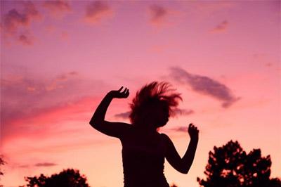 'Sunset Party Dancing Girl Silhouette', 2009, D. Sharon Pruitt