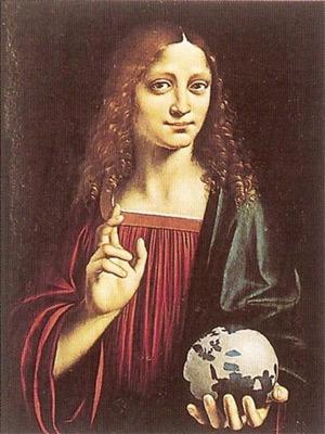 'Salvator Mundi', 1494, Marco d'Oggiono