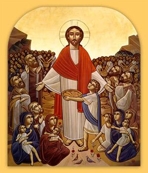 'Christ feeding the multitude'