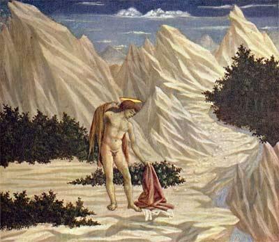 'Hl. Johannes in der Wüste', etwa 1445, Domenico Veneziano