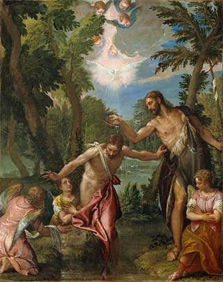 'The Baptism of Christ', about 1580 - 1588, Paolo Veronese