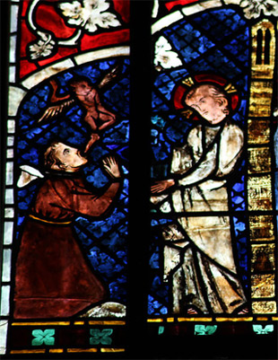 'Jesus healing the demon-possessed', Strasbourg Cathedral - Stained glass windows - Detail, 2012, Playing Futures: Applied Nomadology