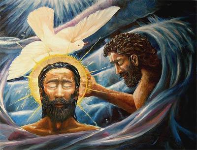 'Baptism of Christ. Jesus is baptized in the Jordan River by John.', 2005, Davezelenka