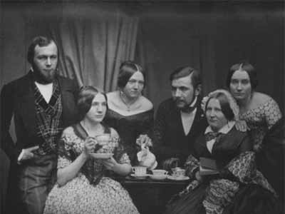 'Familie am Kaffeetisch', 1849, Jenny Bossard (fl. 1850)