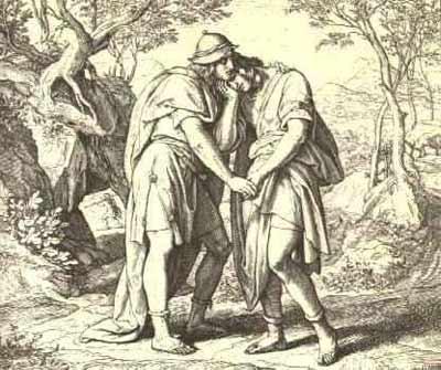 'Jonathan lovingly taketh his leave of David', Late 1970s, Julius Schnorr von Carolsfeld