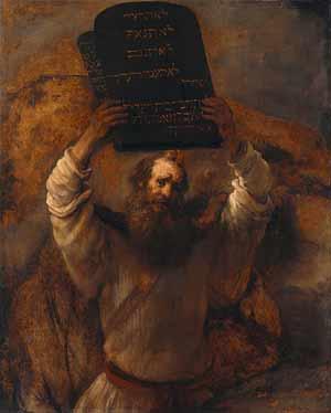 'Moses with the Ten Commandments', 1659, Rembrandt