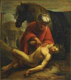 'The good Samaritan heals the traveller', 1665, Geheugen van Nederland