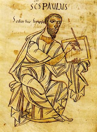 Der Apostel Paulus beim Schreiben