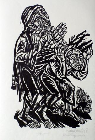 'Opfergang', 1977 - Walter Habdank. © Galerie Habdank