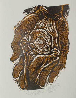 'In manibus tuius zu Psalm 31', 1972 - Walter Habdank. © Galerie Habdank