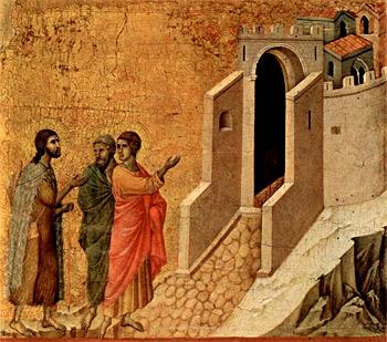 Christus erscheint zwei pilgernden Apostel in Emmaus
