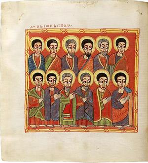 'Die zwölf Apostel', Ethiopian Bible , 1700