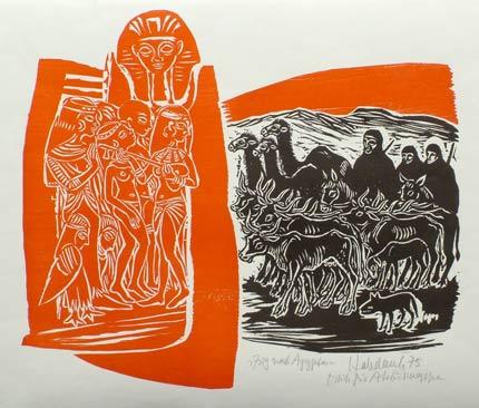 'Zug nach Ägypten', 1975 - Walter Habdank. © Galerie Habdank