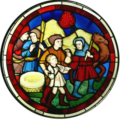 Glasfenster 'Exodus' von Sainte Chapelle, 1888