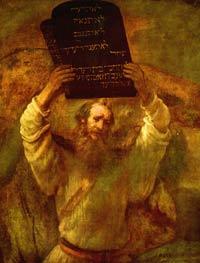 Moses mit den Gesetzestafeln