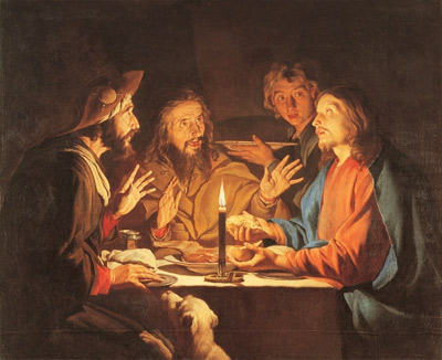 'Supper at Emmaus', Matthias Stom