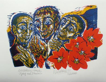 'Gang nach Emmaus', 1988 - Walter Habdank. © Galerie Habdank