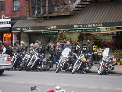 'Hells Angels Rally, New York City, Tompkins Square Park', 2008, SliceofNYC