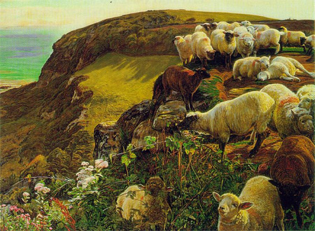 'Verirrte Schafe', William Holman Hunt, 1852