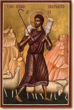 Ikone 'Good Shepherd', Ende des 19. Jhds.