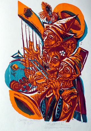 'Laudate Dominum zu Ps. 150', 1972 - Walter Habdank. © Galerie Habdank