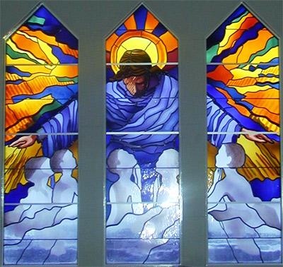 Glasfenster der Kirche von Gründarfjörður, 2003, Christian Bickel
