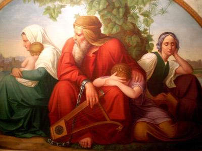 'Die trauernden Juden an den Wassern Babylons', Eduard Bendemann, nach 1832, Jüdisches Museum Frankfurt