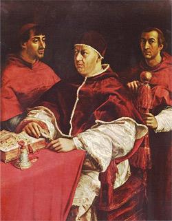 Porträt des Papstes Leo X., 1518 - 1519