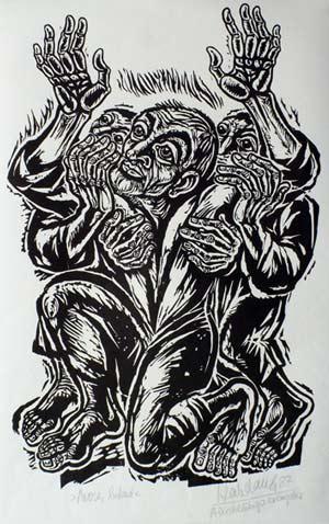 'Mose, betend', 1987. Psalm 77, 2-3 - Walter Habdank. © Galerie Habdank