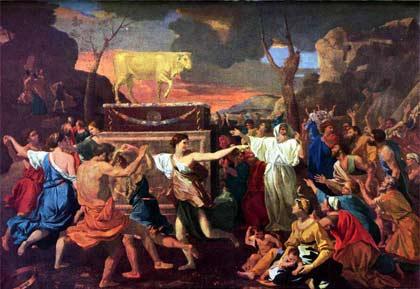 'The Adoration of the Golden Calf', Nicolas Poussin, 1633-4