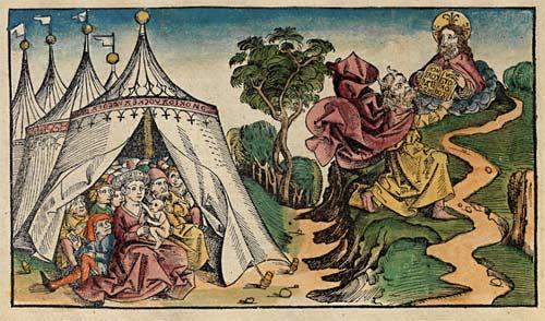 Holzschnitt aus der Schedel'schen Weltchronik, Blatt 30 verso, 1493, Michel Wolgemut, Wilhelm Pleydenwurff
