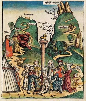 'Das goldene Kalb', Schedelsche Weltchronik, Hartmann Schedel, 1493