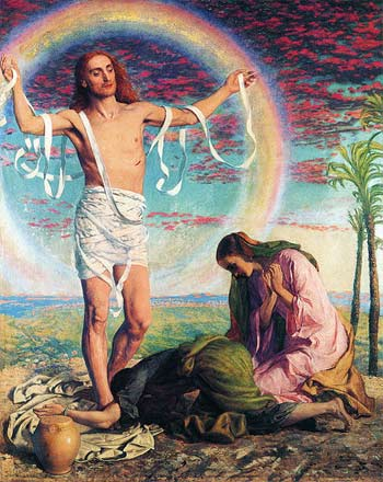'Christ and the Two Marys', Art Gallery of South Australia, Adelaide, William Holman Hunt, 1847 (с. 1897)