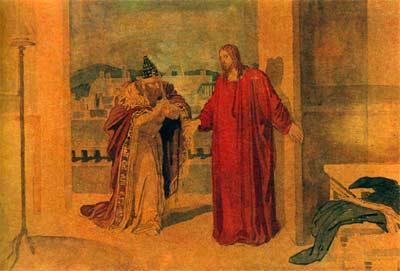 Jesus und Nikodemus, 1850