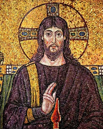 A 6th century mosaic of Jesus, 2006, Aiden