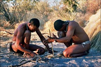'Bushmen in Deception Valley', 2005, Ian Sewell