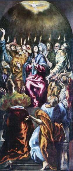 'Ausgießung des Heiligen Geistes', El Greco, 1604-1614