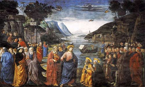 'Calling of the Apostles', Ghirlandaio Domenico, 1481