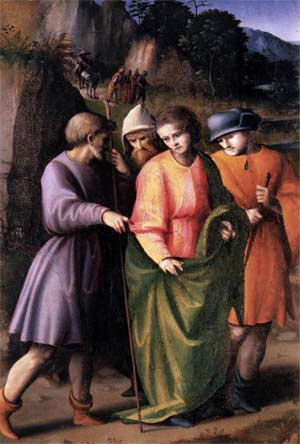 'Scenes from the Story of Joseph: Joseph Sold by His Brethren', 1515-1516 - Bachiacca