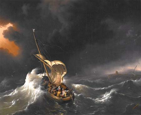'Christ in the Storm on the Sea of Galilee', 1695, Ludolf Bakhuysen