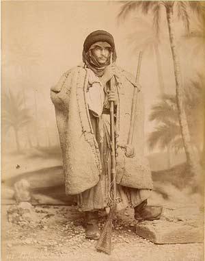 'Head of shepherd beduins', circa 1880s., Félix Bonfils