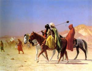 'Arabs Crossing the Desert', 1870, Je Gérôme
