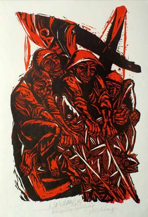 'Fischfang', 1974 - Walter Habdank. © Galerie Habdank