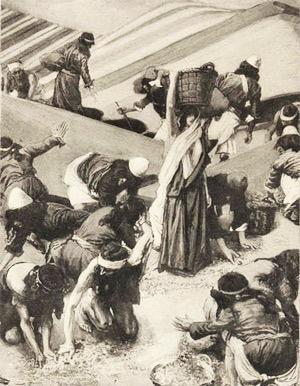'The Gathering of the Manna', James Tissot, vor 1903